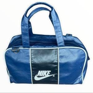 Nike Duffel Bag With Strap. Blue & Black.
